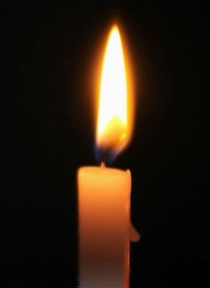 candle with bright flame